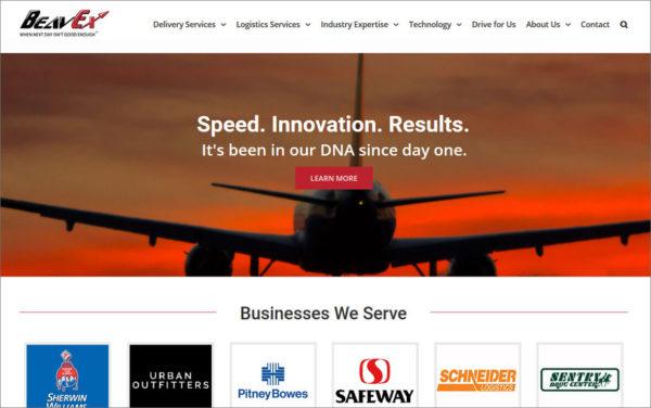 Beavex Courier Website