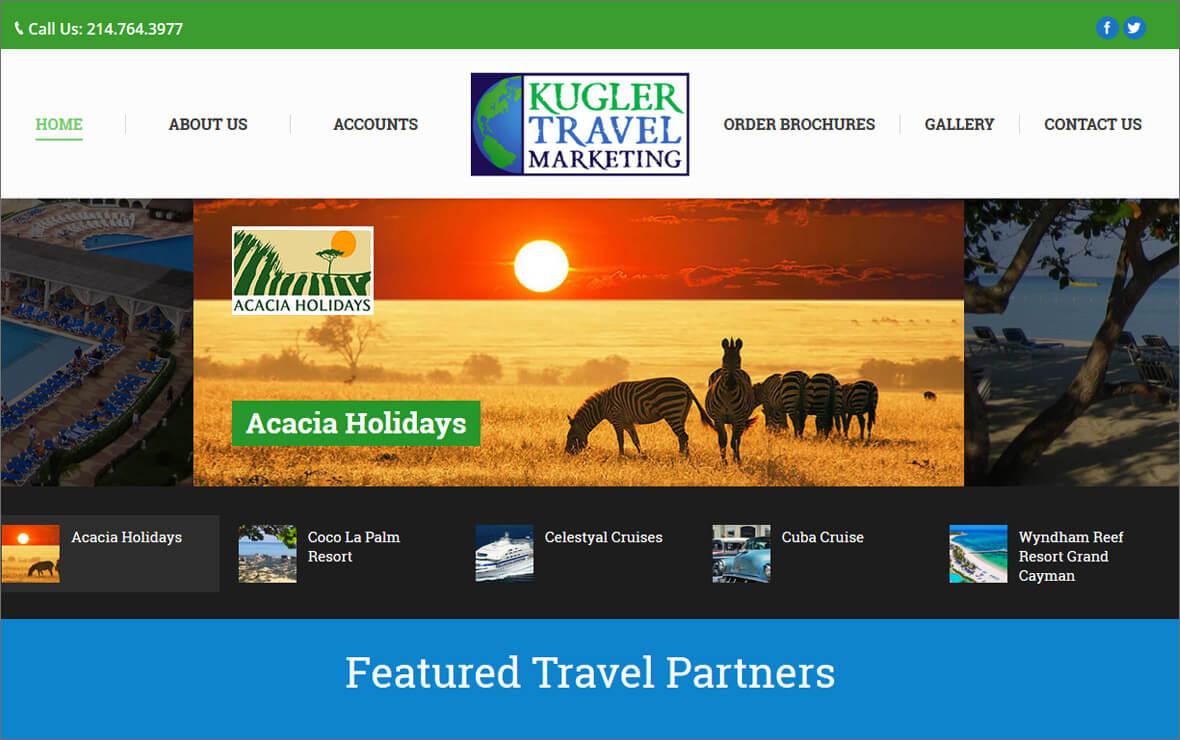 Kugler Travel Marketing Website