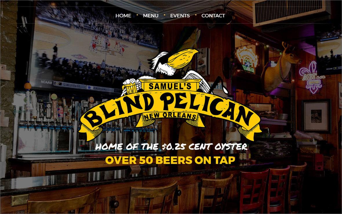 The Blind Pelican Restaurant Website